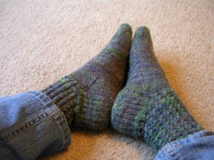 The Finished Gawain Socks